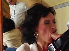 Stockings mature red shoes anal and cumshot tube porn video