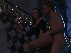 Alektra Blue night time hardcore sex outdoors tube porn video