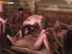 Naked girls party after exams in the sauna tube porn video