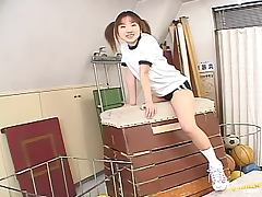 Gorgeous Japanese School Girl Giving a Hot Blowjob to Her Gym Teacher tube porn video