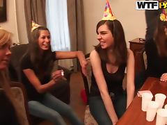 Horny babes came to the birthday party with only one goal tube porn video