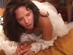 Brunette Bride Interracial tube porn video