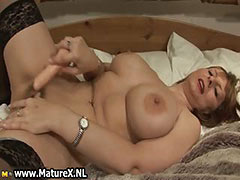 Big tits mature with black stockings tube porn video