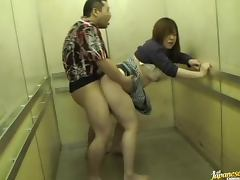 Upskirt elevator sex