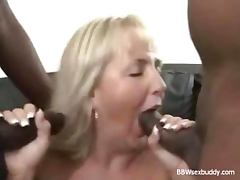 2 Black Dicks Banging a BBW Blonde tube porn video