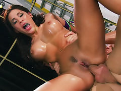 Baby oil sex with stunning Aleksa Nicole tube porn video