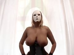 Dominas in corset and nylons Big tits and pumped pussy tube porn video