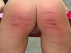 Her pain is real in a caning video tube porn video
