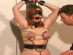 Hardcore babe with blindfold and tits torture tube porn video