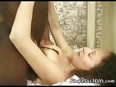 Granny gets big black in her ass tube porn video
