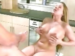 Chubby Longhaired British beauty gets a huge load tube porn video