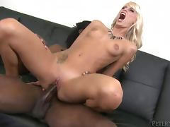 Erica Fontes sucks a huge black dick and takes it in her pussy tube porn video