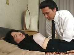 Japanese mature chick has hot sex tube porn video