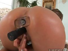 Candy Strong the sexy lady stuffs and fingers her hot pussy tube porn video