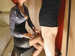 Corset Heels Nylons and Satin Domina tube porn video