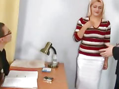 Shocking nude job interview for busty secretary tube porn video