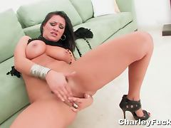 Charley chase fingering her horny pussy tube porn video