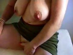 Granny masturbates big clit tube porn video