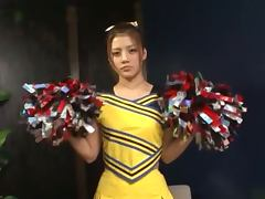 Lovely Asian Cheerleader Getting Toyed and Fingered tube porn video