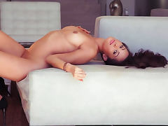 Hardcore brunette is demonstrating her perfect shape tube porn video