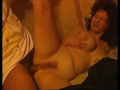 Two chubby babes in period piece gets drilled by two cocks tube porn video