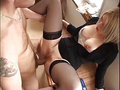 Amateur Blonde Tres Sexy Lingerie Anal tube porn video