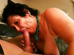 Horny granny swallows cock tube porn video