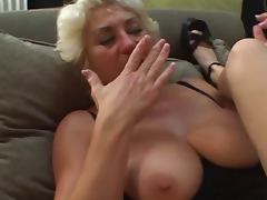 Mature and younger lesbians tube porn video