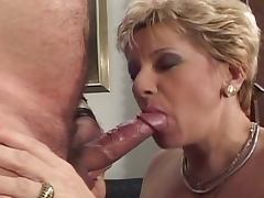 Grandma's filthy fun with two cocks tube porn video