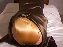 Satin Dress and Panties tube porn video