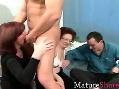 Grannies in swing party tube porn video