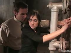 Sasha Grey loves being tortured and fucked in terrific BDSM clip tube porn video