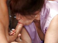 Asian Grannies videos. Asian granny gets handled by two dudes and gets nailed