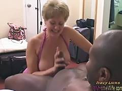 Tracy Licks Takes MrNuttz's 9 inch large darksome rod tube porn video