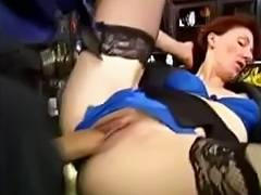 MILF with sexy red hair is fucked by her younger lover tube porn video
