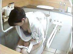 A number of women pissing in toilet on horny video tube porn video
