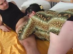 Ass Fucked Granny tube porn video