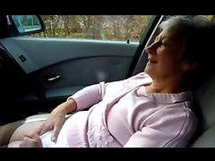 Granny masturbating and orgasm on car tube porn video