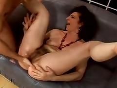 hairy granny anal fucking tube porn video