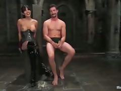 Dominant Shy Love Masks and Ties a Guy for a Hardcore Fucking in BDSM tube porn video