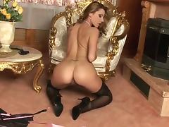Sex-starved glamour babe Cindy Hope wants you to join her in scorching solo action tube porn video
