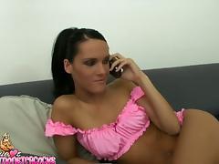 Pinky babe Jennifer Dark is rocking in the POV tube porn video