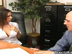 Rachel Starr gets her vag unforgettably fucked in an office tube porn video