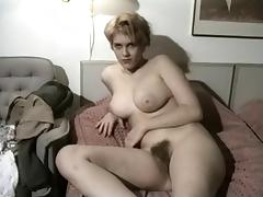 Vintage Amateur Shows Her Big Tits And Hairy Snatch tube porn video