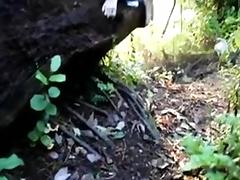 pair receives nasty in woods tube porn video