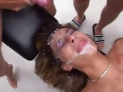 Turkish Slut gets gangbanged by Germans tube porn video