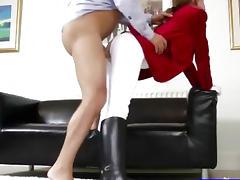 Teen amateur in tights getting slammed tube porn video