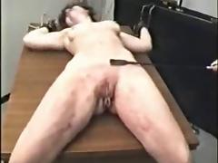 Amateur BDSM Legs Spread Wide for Severe Pussy Whipping tube porn video