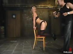 Busty Devon Lee gets whipped and fucked in BDSM video tube porn video