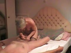 Granny BJ tube porn video
